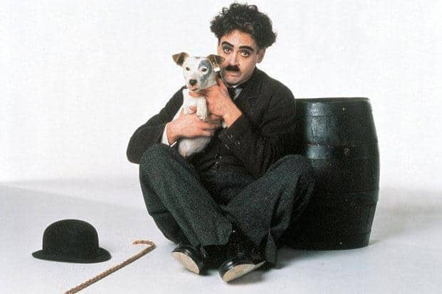 Robert Downey Jr. as Charlie Chaplin from the 1992 biopic directed by Attenborough. Photo: IMDb