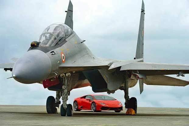 Lamborghini Huracan Vs Indian Air Force S Sukhoi Su 30mki
