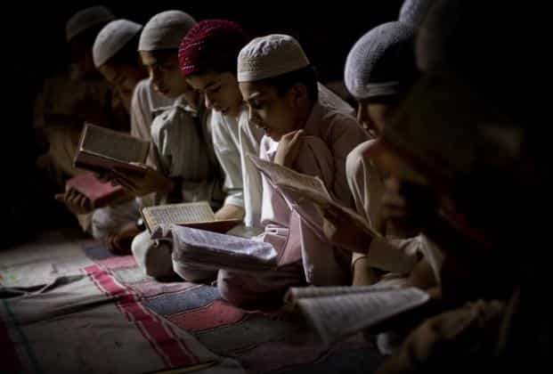 """File picture of a madrassa. BJP leader Sakshi Maharaj said madrassas """"which have no connection with nationalism"""" are being given government aid. Photo: AP"""
