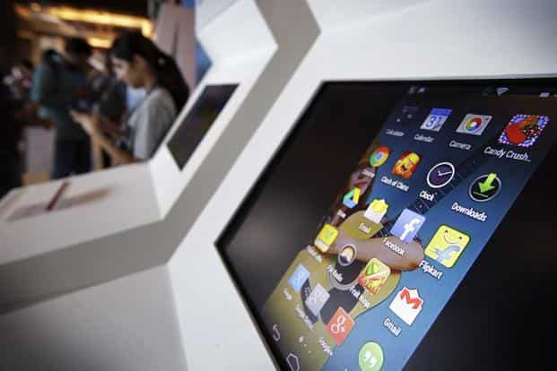 India is the first country where Google's Android One devices have been launched. Photo: Bloomberg