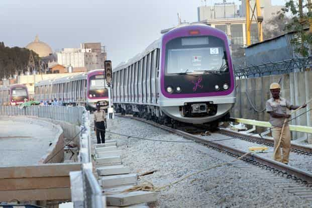 The second phase of the Bangalore Metro will cover 72 km and 61 stations.