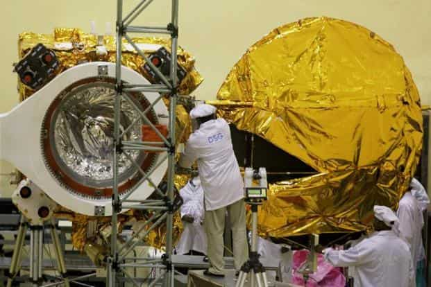 Scientists working on the Mars Orbiter Satellite at ISRO in Bengaluru. It was launched on 5 November 2013, and successfully entered the orbit of Mars on 24 September 2014, after 10 months. PTI