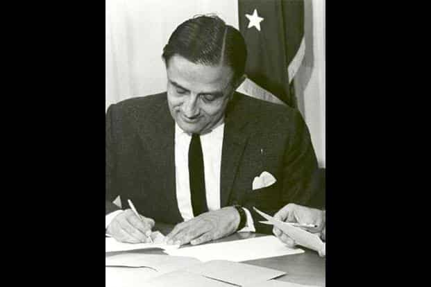 Dr. Vikram Sarabhai, the father of India's Space programme. The Indian space programme was driven by the vision of Dr. Sarabhai. WikimediaCommons