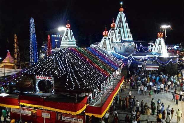 Ambabai temple during Navratri