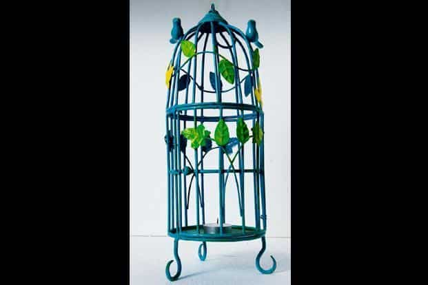 Bird cage, Rs1,300, Crazy Daisy, Mehar Chand Market, Lodi Colony, Lodi Road, New Delhi, www.facebook.com/ crazydaisyindia