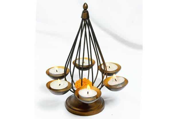 Konark tea-light holder , Rs790, Fabindia stores countrywide,