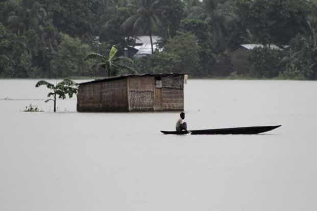 Frequent floods and soil erosion in and around the Brahmaputra and Barak valley have repeatedly pushed families into severe poverty. Photo: Reuters