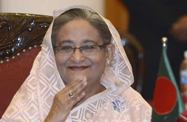 File photo of Sheikh Hasina. Bangladesh did not comment directly on the assertions that Prime Minister Hasina had been the target of a plot, but said it had tightened security on the border with India. Photo: Reuters