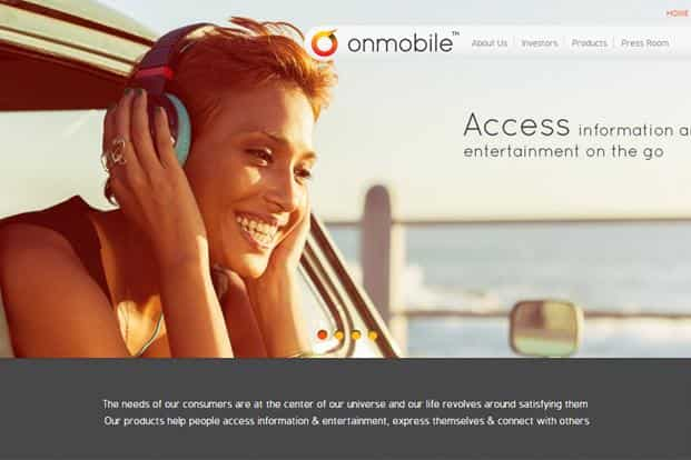 A screen grab of OnMobile website.