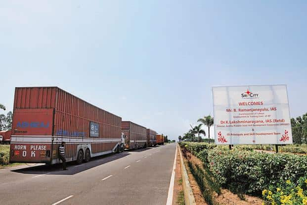SriCity is a manufacturing hub comprising a special economic zone of 2,700 acres and a domestic tariff area of 4,300 acres. Photo: Sharp Image