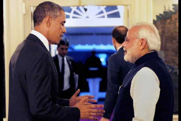 A file photo of US President Barack Obama (left) with Prime Minister Narendra Modi. Photo: PTI