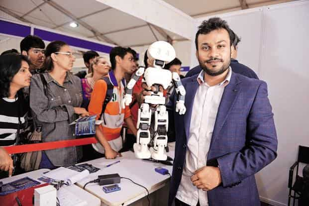 Vaish took two months to design, fabricate, programme and test Manav. Photo: Abhijit Bhatlekar/Mint