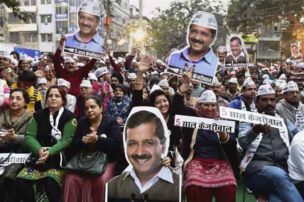 As for the Aam Aadmi Party (AAP), it would be acutely aware that the contest has now reached the slog overs, with the party facing a barrage of mud-caked yorkers and beamers. Photo: PTI