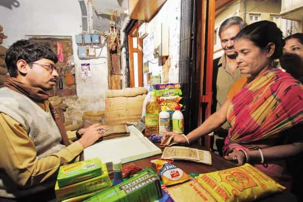 A file photo of a ration shop. The FCI panel has also recommended that coverage under the National Food Security Act be reduced from 67% of the population to 40%. Photo: Indranil Bhoumik/Mint