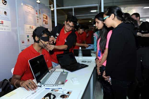 The apnea and rest analysis mask can be worn through the night. Its sensors capture data that can be sent to a doctor for diagnosis. Photo: S. Kumar/Mint