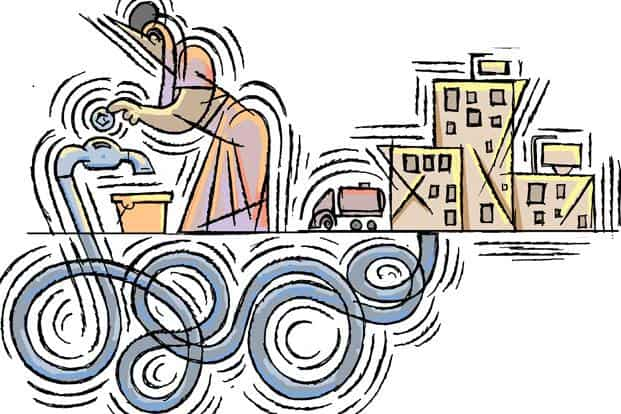 India's urban poor pay more for water than the rest of us. Illustration: Jayachandran/Mint