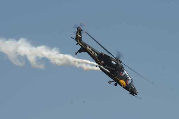 India's HAL Light Combat Helicopter, showcasing its features.