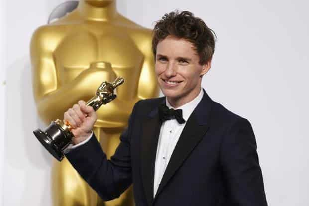 Eddie Redmayne with his Oscar for best actor for playing Stephen Hawking in 'The Theory of Everything'. Redmayne was a favourite for the title, having won the Golden Globe for the same role. Reuters