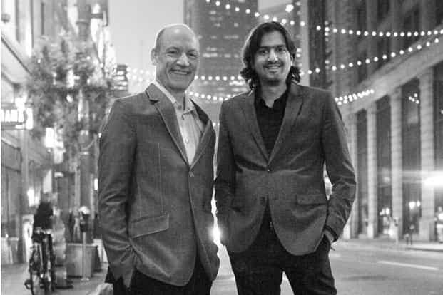 Wouter Kellerman and Ricky Kej (right)