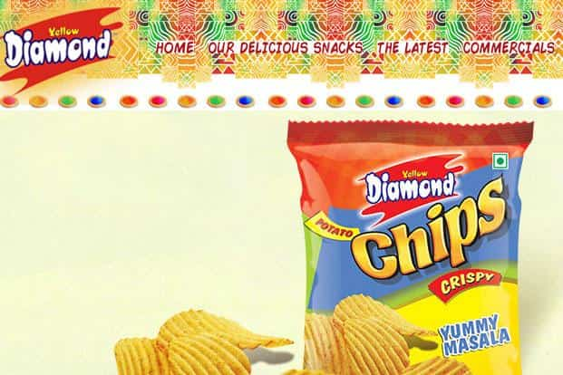 Prataap Snacks sells potato chips and a variety of spicy Indian savouries under the brand name Yellow Diamond.