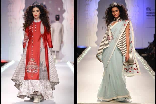6dcb9504d9 ... Anju Modi's Autumn Winter 2015-16 collection at the Amazon India Fashion  Week