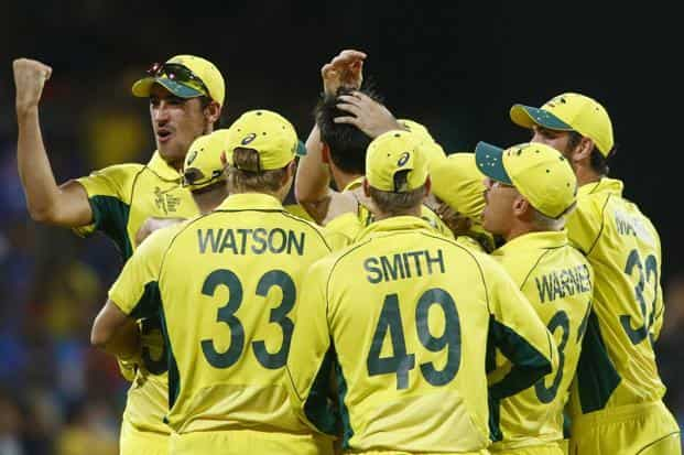 Australia's 328/7 in Thursday's match in Sydney is the highest score by a team in World Cup semifinal. Photo: David Gray/Reuters
