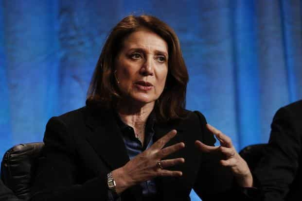 Ruth Porat is replacing Patrick Pichette, who said this month that he would step down. She will leave Morgan Stanley in April and assume her new position on 26 May. Photo: Bloomberg