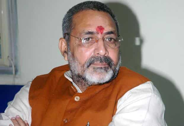 Various women leaders also criticised Giriraj Singh saying it reflected his racial mindset and attitude towards women. Photo: Hindustan Times