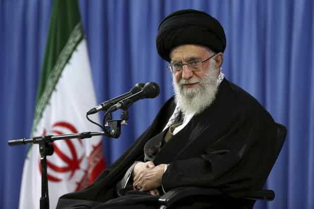 Ayatollah Ali Khamenei says he will only agree to a deal if all the sanctions are lifted up front, upon Iran's signature. Photo: AP