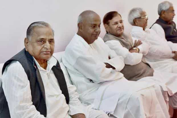 The six parties will merge under the leadership of Samajwadi Party (SP) leader Mulayam Singh Yadav, who might be the leader in Lok Sabha. The merged entity will be named either Samajwadi Janata Party or Samajwadi Janata Dal with cycle as its symbol. AFP