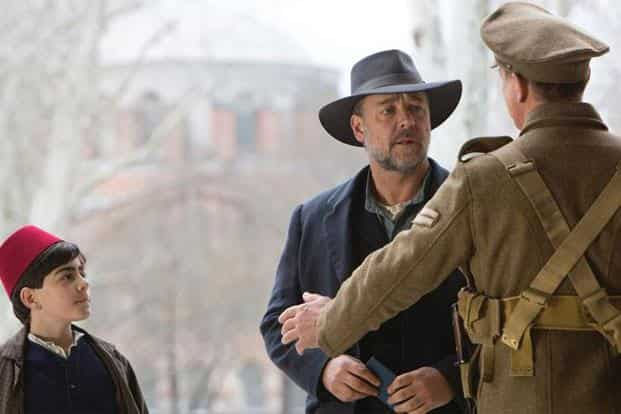 Russell Crowe (centre) in a still from 'The Water Diviner'