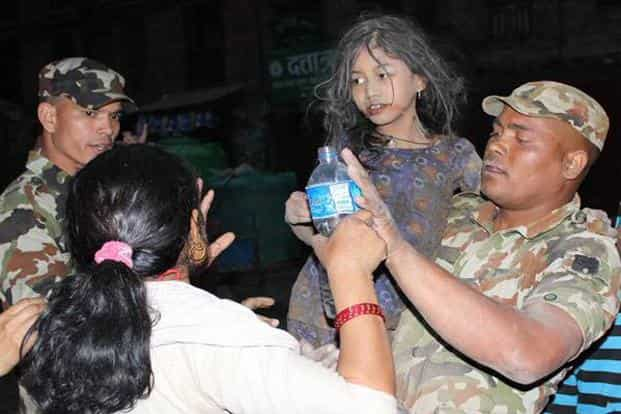 An 11 year-old girl was rescued 90 hours after the earthquake from Dattatreya Square in Bhaktapur by the Nepal army.