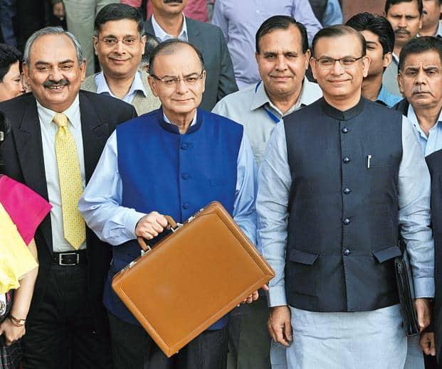In his budget speech, finance minister Arun Jaitley said the government will launch two insurance products—Pradhan Mantri Suraksha Bima Yojna and Pradhan Mantri Jeevan Jyoti Bima Yojana. Photo: Mohd Zakir/Hindustan Times