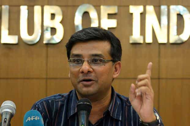 Greenpeace executive director India Samit Aich at a press conference in New Delhi on Thursday. Photo: AFP