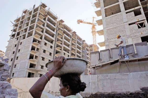 A file photo of a construction site. Besides home loans, Fullerton India will also focus on lending to medium and small units particularly in the rural areas. Photo: Bloomberg