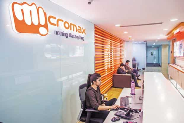 Micromax had last month said it would invest between $500,000 and $20 million in over 20 start-ups in the coming year. Photo: Bloomberg