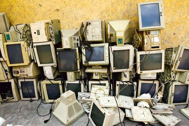 The main sources of electronic waste in India are the government, public and private (industrial) sectors. Photo: Bloomberg