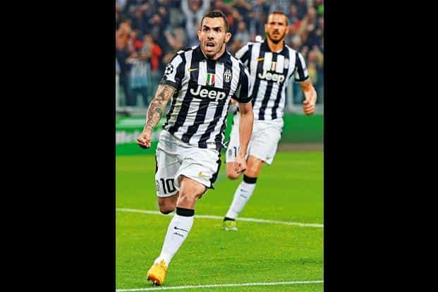 Carlos Tevez- Juventus: He has performed remarkably well this season, scoring seven goals in the league, adding to 20 in the Serie A, and two in the Italian Super Cup. AFP