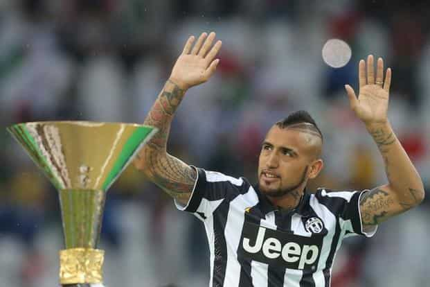Arturo Vidal-Juventus: The midfielder from Chile is sure to play a pivotal role in the match. AFP