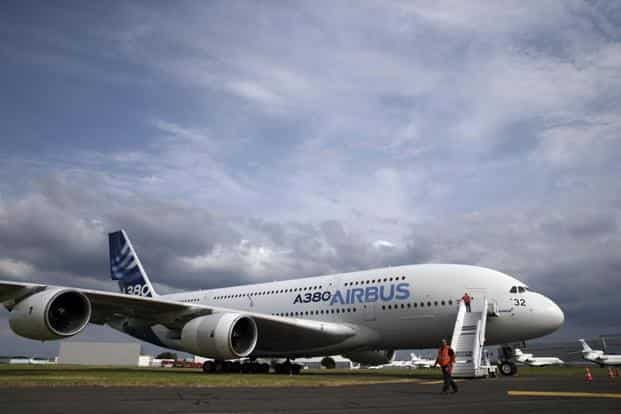 An Airbus A380, the world's largest jetliner, on display. Demand is high for single-aisle jets such as Airbus' A320neo and Boeing's 737 MAX. The big two—Boeing and Airbus are poised to win at least 220 orders for competing narrow-body jets at the show. Reuters