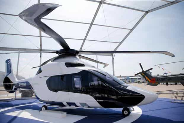 E-Fan's cleaner, quieter civilian helicopter, the H160 also debuts at the spectacular Air Show. Reuters