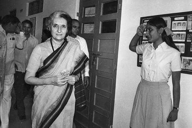 A file photo of former prime minister Indira Gandhi. Photo: HT
