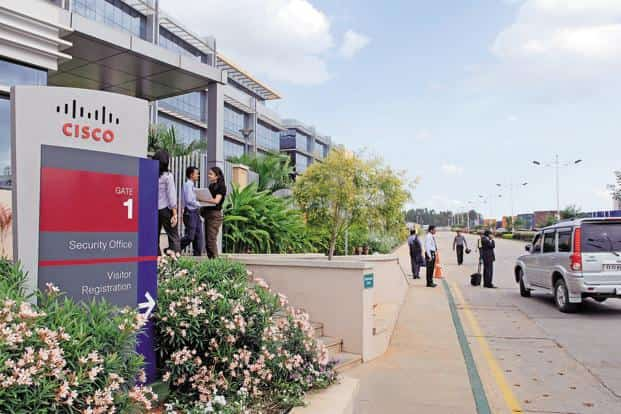 A file photo of the Cisco campus in Bengaluru. Cisco has also announced a $40 million investment towards the expansion of its India facility. Photo: Hemant Mishra/Mint