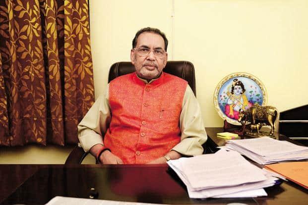 A file photo of agriculture minister Radha Mohan Singh. Photo: Pradeep Gaur/Mint
