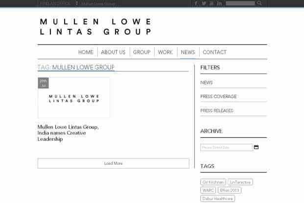 Mullen Lowe Lintas announces CEO for new creative agency