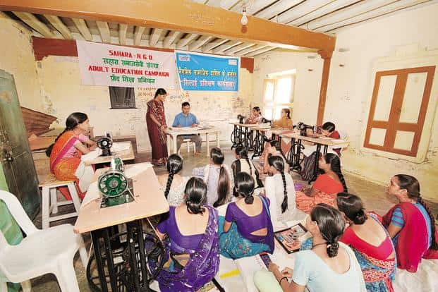 A file photo of an adult education class conducted by NTPC in collaboration with local NGOs.