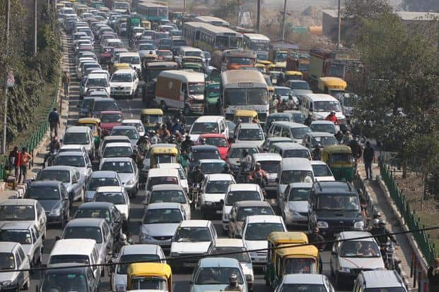 File photo. In May 2015, Delhi witnessed a traffic jam on National Highway 8 that spread over 20km and lasted for more than 4 hours. Photo: Raj K. Raj/HT