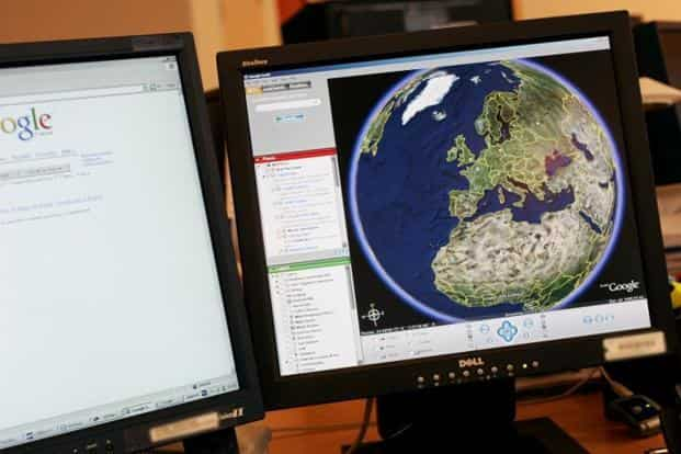E for Earth: Planning a trip to the mountains? With Google Earth, it is not a blind-fly attempt. You can actually chalk-out your trekking route map, visit Mars and even plant flags on the Moon without even leaving your desktop.  AFP