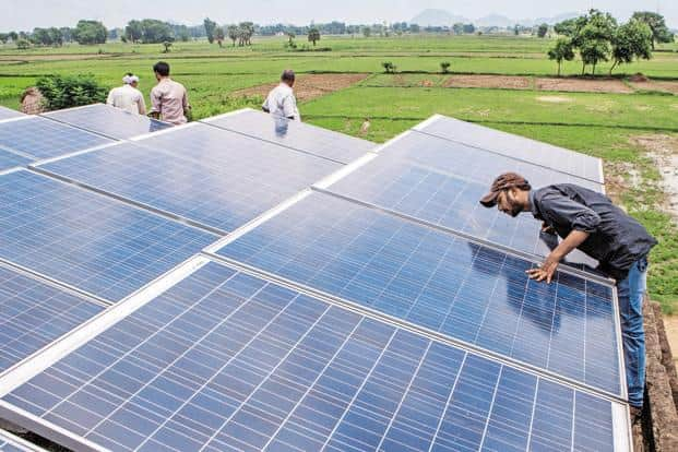 India has pushed green power to the top of its energy security agenda and needs as much as $200 billion to meet its target of installing 100GW of solar power and 60,000MW of wind power by 2022. Photo: Bloomberg