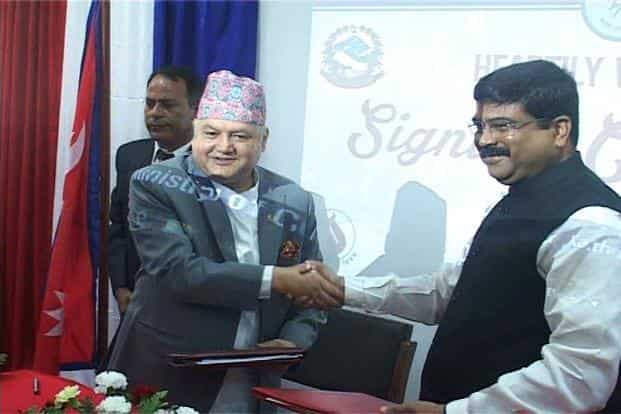 The MoU was signed by India's petroleum and natural gas minister Dharmendra Pradhan and Nepal's commerce and supplies minister Sunil Bahadur Thapa.